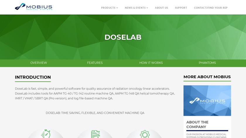 DoseLab Landing Page