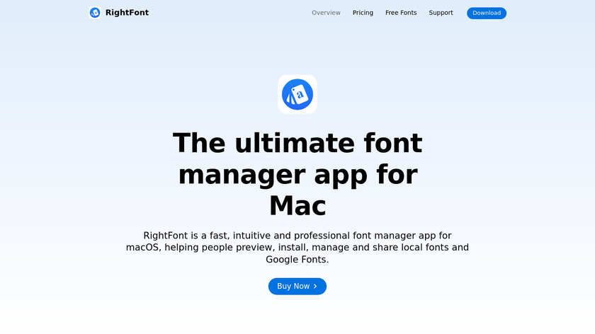 RightFont Landing Page