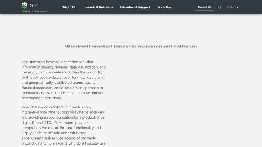 PTC Windchill Landing Page