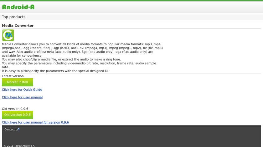 aDownloader Landing Page