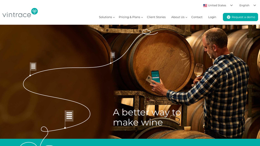 VINx2 Winery Software Landing Page