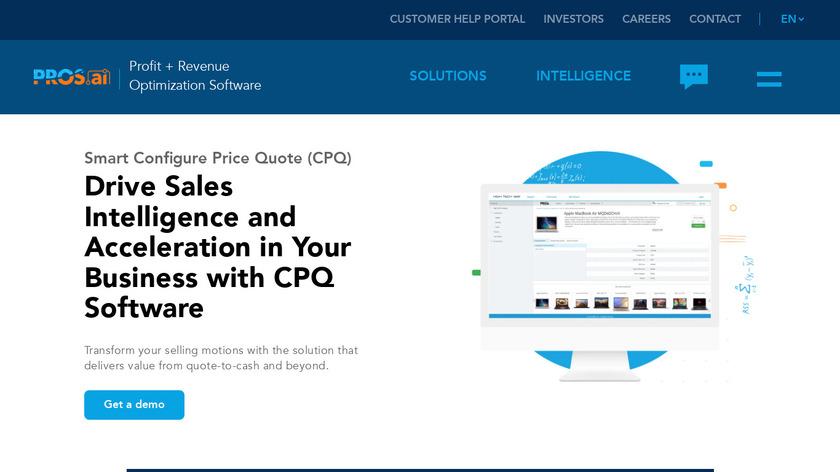 PROS Smart CPQ Landing Page