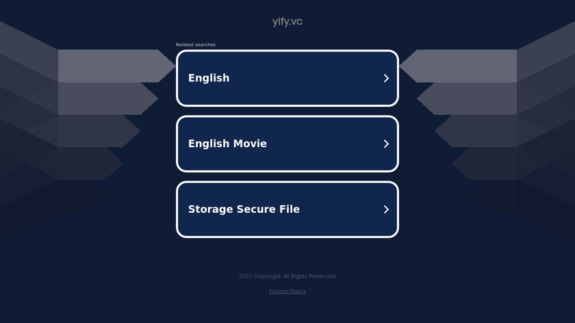 Yify.vc Landing Page
