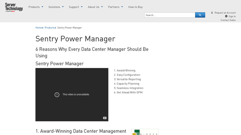 Sentry Power Manager Landing Page