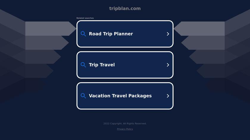 Tripblan Landing Page