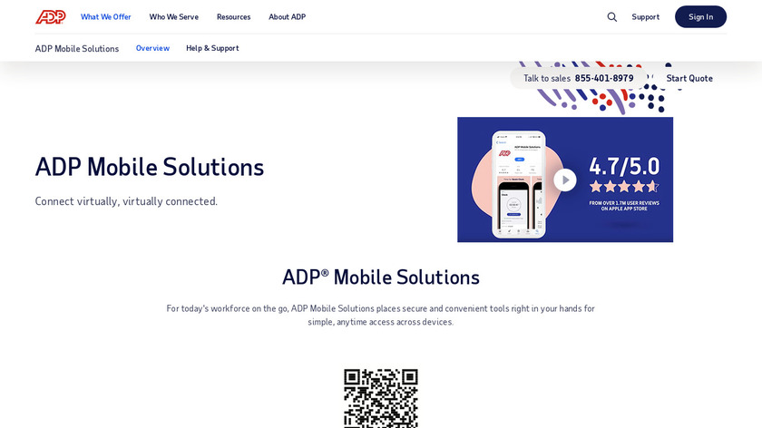 ADP Mobile Solutions Landing Page