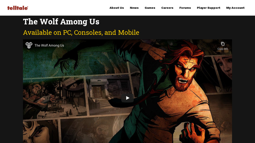 The Wolf Among Us Landing Page