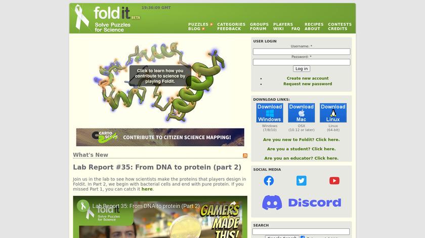 Foldit Landing Page