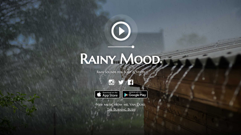 Rainy Mood Landing Page