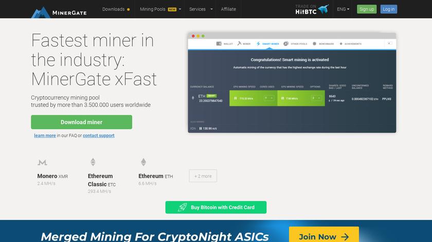 MinerGate Landing Page