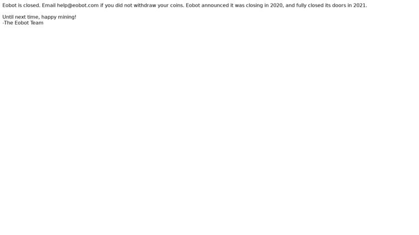 EOBot Landing Page