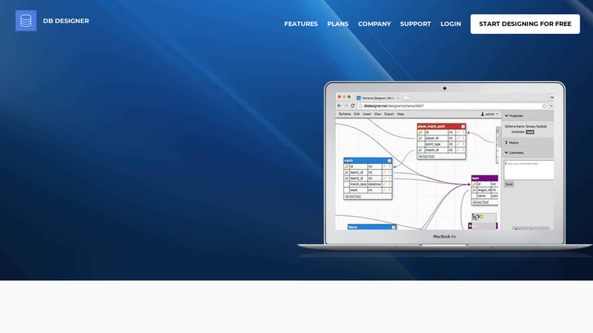 DbDesigner.net Landing Page