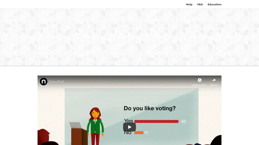 DirectPoll Landing Page