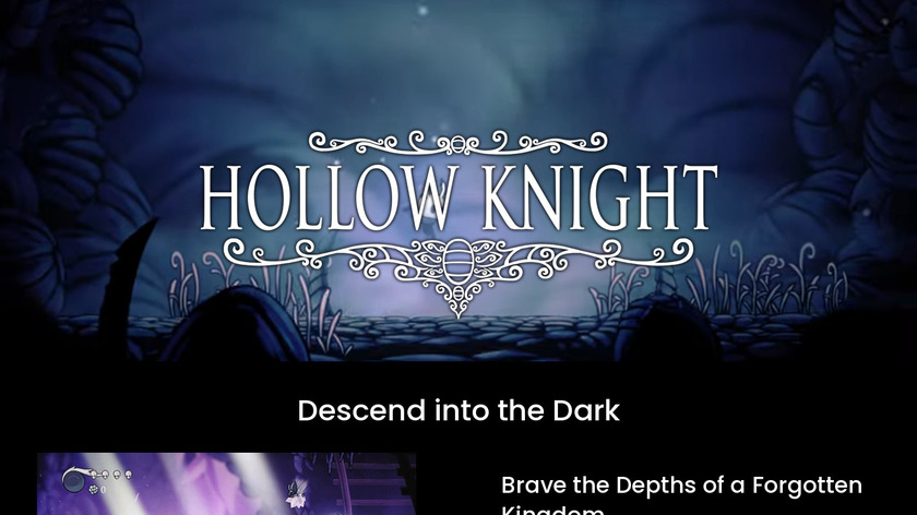 Hollow Knight Landing Page