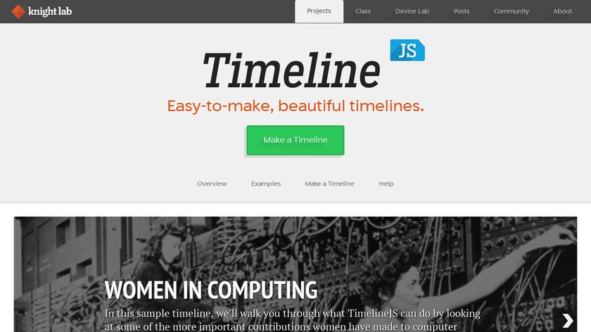 Timeline JS Landing Page