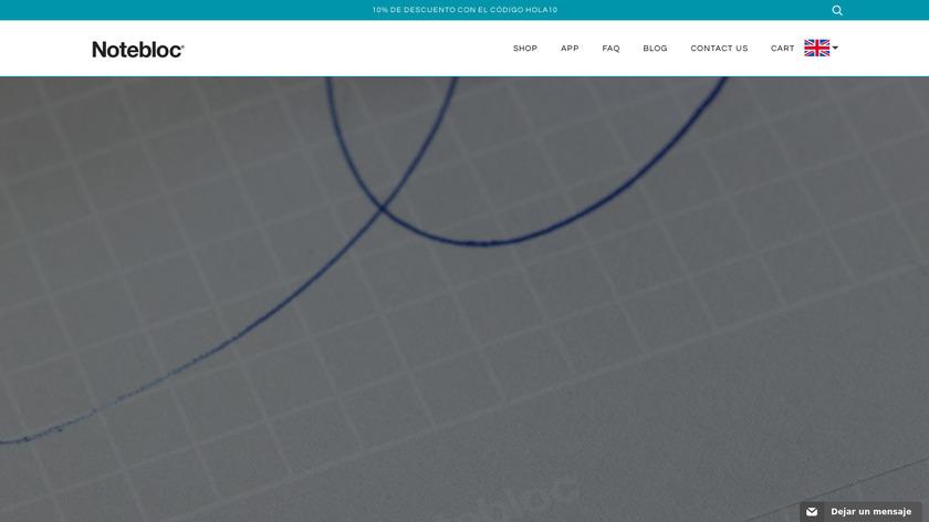 Notebloc Landing Page