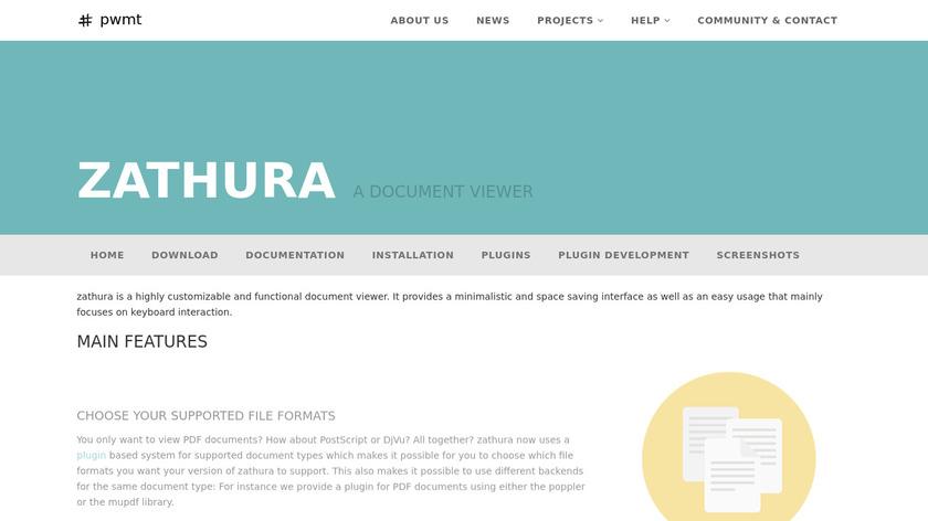 pwmt.org zathura Landing Page