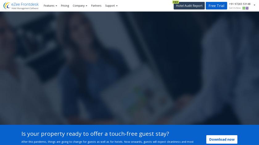 eZee FrontDesk Landing Page