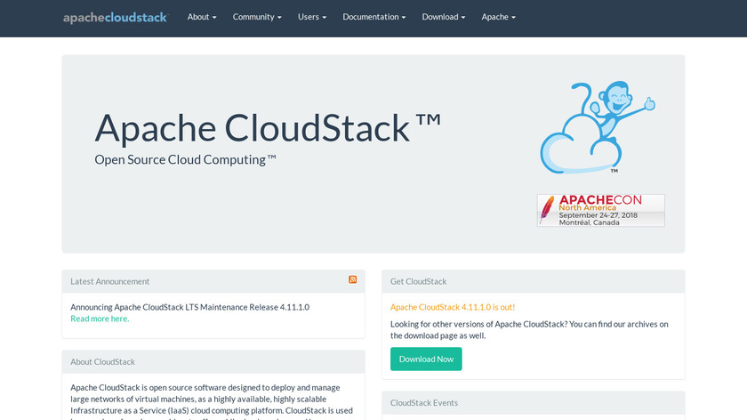 Apache CloudStack Landing Page