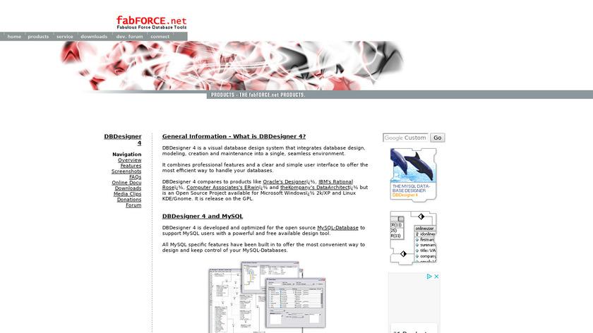 DB Designer Landing Page