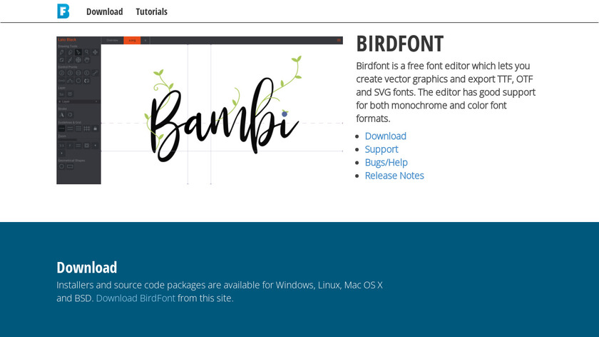 BirdFont Landing Page