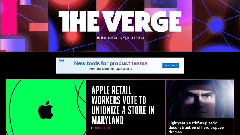 The Verge Landing Page