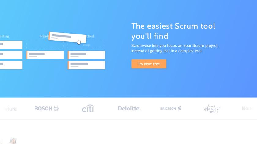 Scrumwise Landing Page
