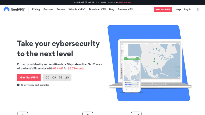NordVPN Landing Page