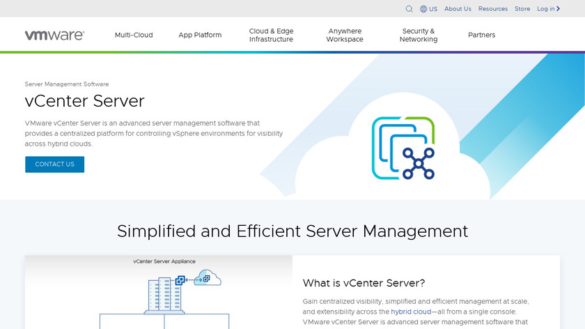 VMware vCenter Landing Page