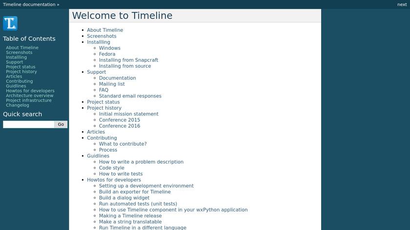 Timeline Landing Page