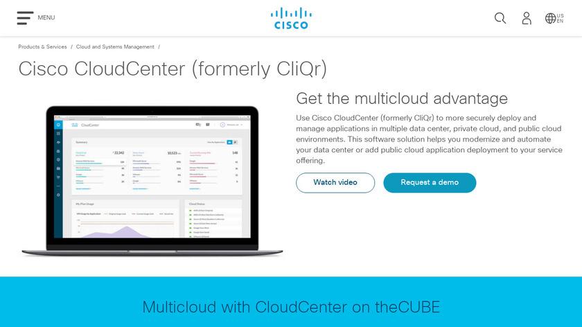 CliQr Landing Page