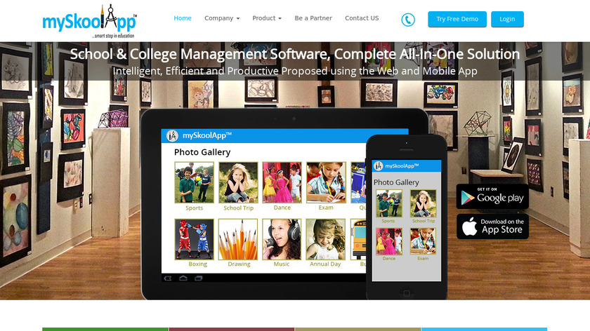 mySkoolApp Landing Page