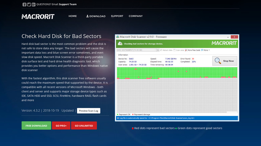 Macrorit Disk Scanner Landing Page
