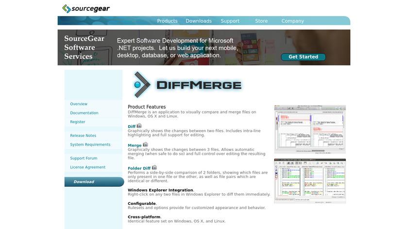 DiffMerge Landing Page
