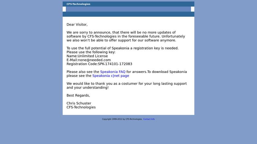 Speakonia Landing Page