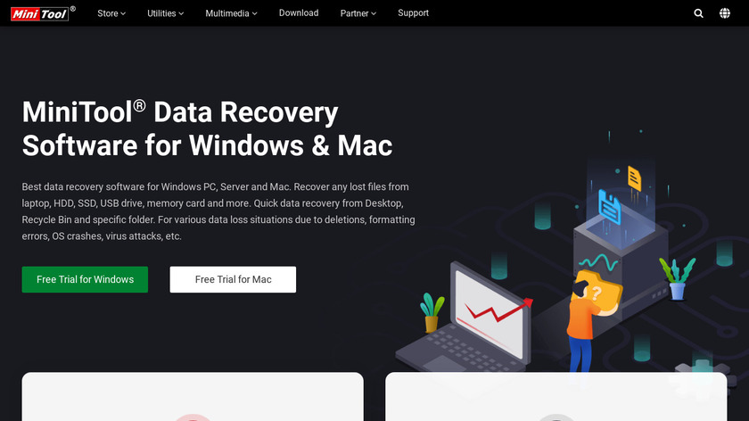 MiniTool Power Data Recovery Landing Page