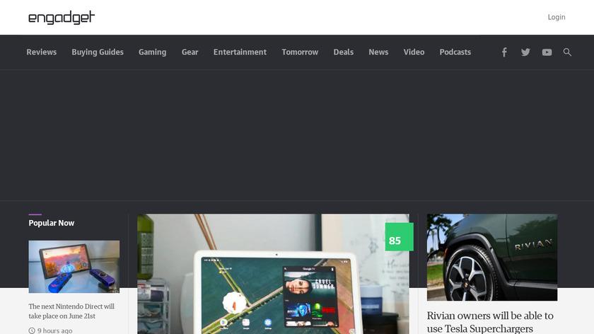 Engadget Landing Page