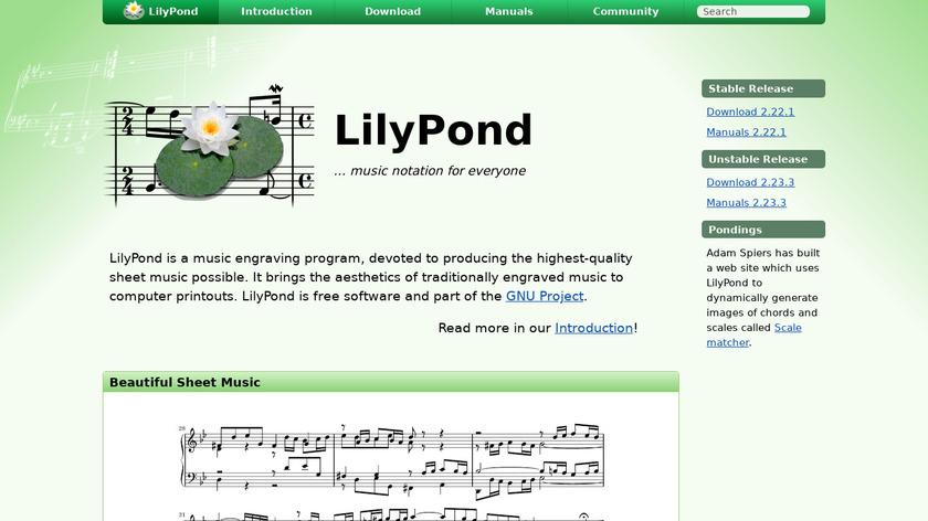 LilyPond Landing Page