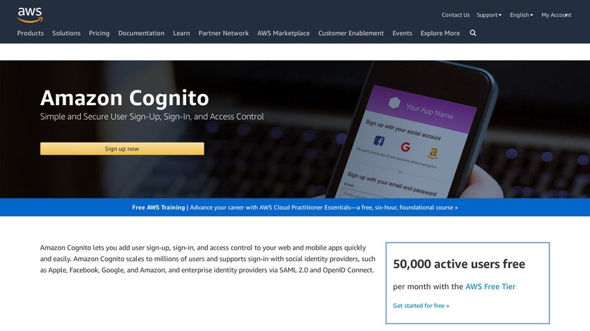 Amazon Cognito Landing Page
