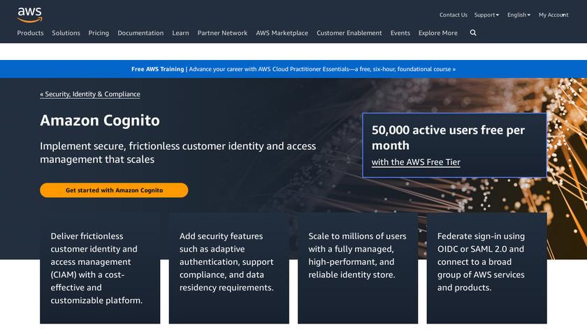 Amazon Cognito Landing Page