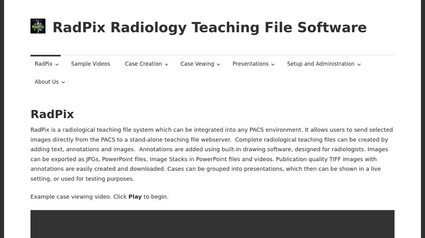 RadPix Landing Page