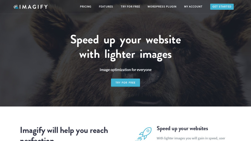 Imagify Landing Page