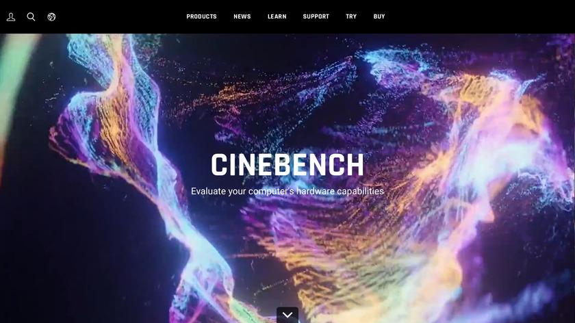 Cinebench Landing Page