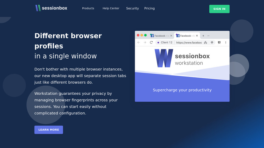 Session Box Landing Page