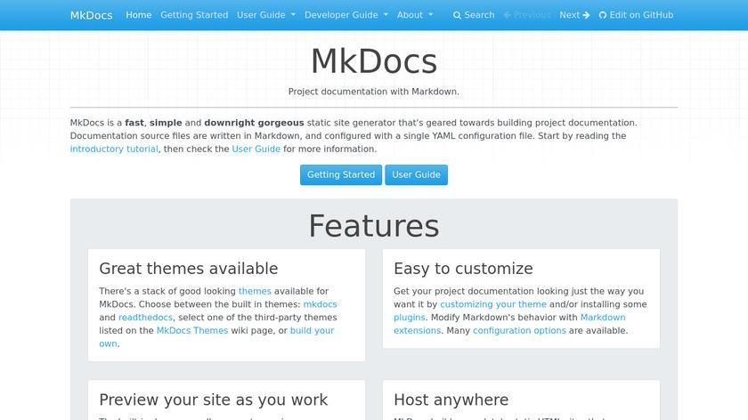MkDocs Landing Page