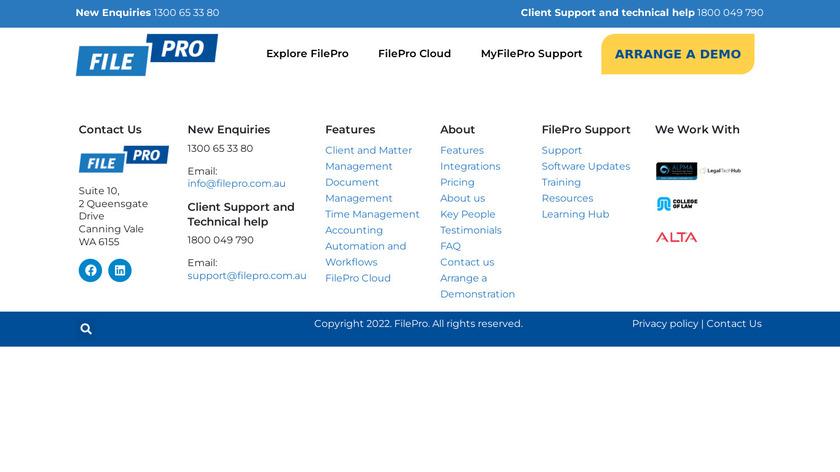 FilePro Landing Page