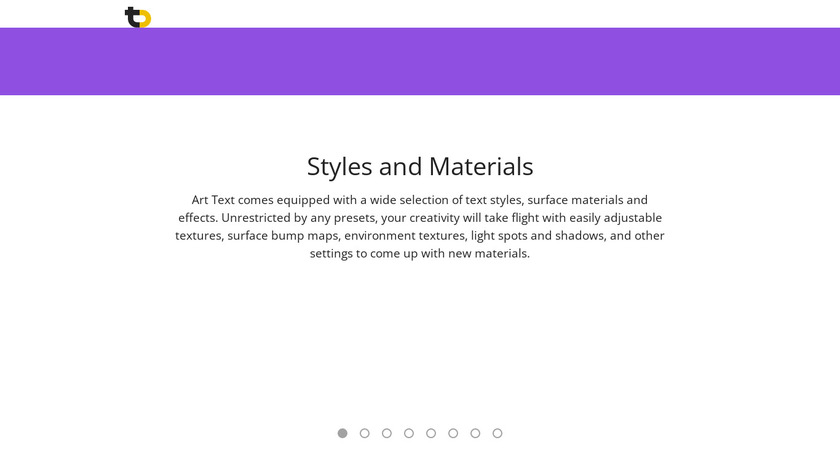 Art Text Landing Page