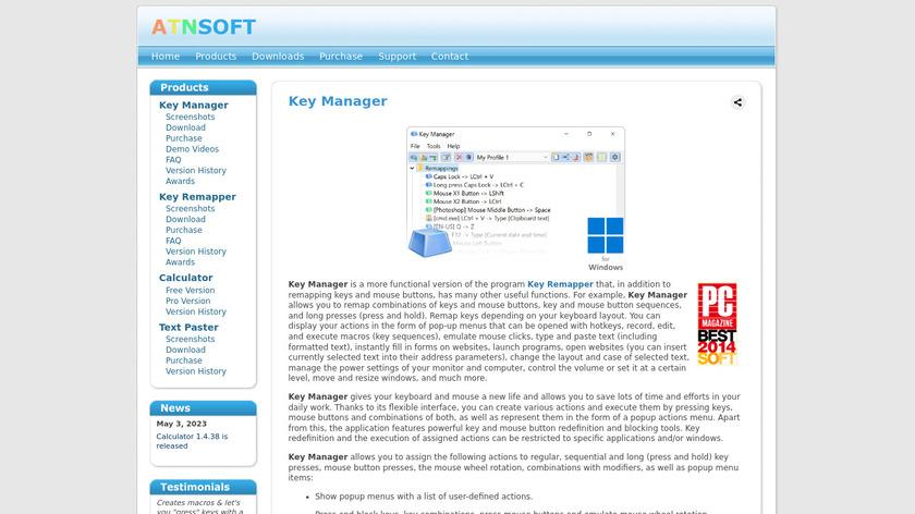 Key Manager Landing Page