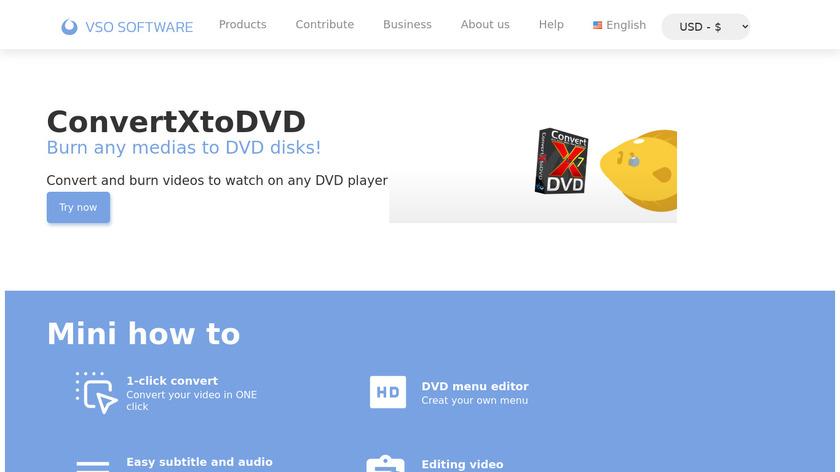 ConvertXtoDVD Landing Page