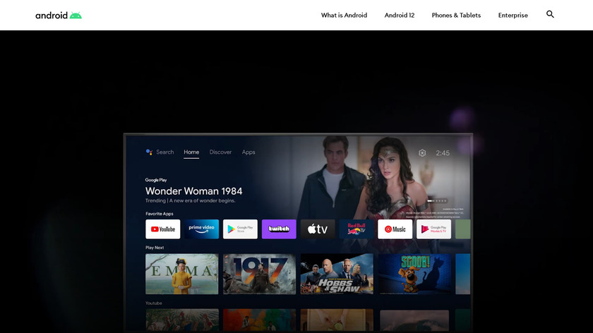 Android TV Landing Page